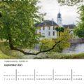September op kalender: Fraeylemaborg te Slochteren, parel in Groningen.